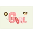 girl card vector image vector image