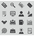 Job icons set Human resources and vector image