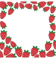 Frame with strawberries template for vector image
