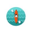 Kayak icon Canoe Summer Vacation vector image