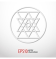 Sacred geometry simbol made of paper Geometry 3d vector image