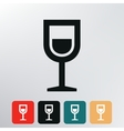 Shot drink icon vector image
