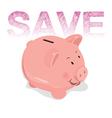 Piggy bank savings symbol of financial success vector image