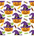 Halloween Pumpkin Seamless Pattern vector image