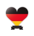german flag emblem icon vector image