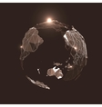 Abstract Triangles Planet Earth in Space vector image