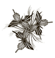 Artistic butterflies pattern vector image