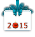 New Year card with realistic fir twigs vector image