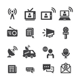 new icon set vector image