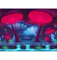 Magic Mushroom Hollow mystical background vector image