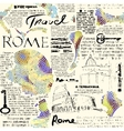 Rome newspaper background vector image