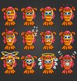 Set of cute cartoon monsters with different vector image