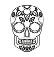 skull and flowers tattoo isolated icon design vector image