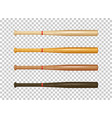 illistration of realistic wooden baseball bat icon vector image