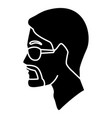 man head with sunglasses vector image