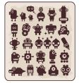 robots monsters vector image