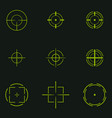 sniper sight symbol crosshair target set of icons vector image
