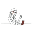 Working day of one nice woman vector image