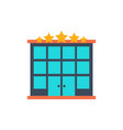 hotel building flat icon vector image