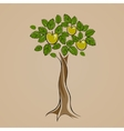 Tree with some green apples on it vector image vector image