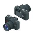 Digital photo camera SLR camera Flat 3d vector image