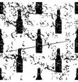 Bottle pattern grunge monochrome vector image
