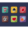 Casino game of fortune gambling roulette slot vector image