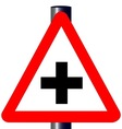 Cross Roads Traffic Sign vector image