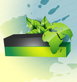 eco style earth vector image