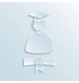 graduate student silhouette vector image