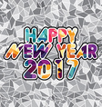 happy new year text abstract triangle color mosaic vector image