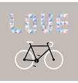 I love bicycle7 vector image