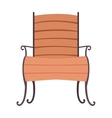 Isolated wood chair design vector image