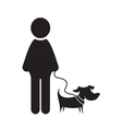 Man and dog icon vector image