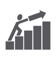man pushing trend up vector image
