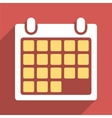 Month Calendar Flat Long Shadow Square Icon vector image