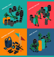 paintball isometric compositions vector image