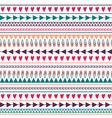 seamless pattern with hearts lines arrows vector image