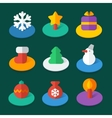 Set of isometric flat icons vector image
