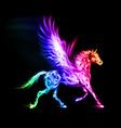Fair Pegas Horse Run Spectr vector image