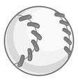 Baseball icon black monochrome style vector image