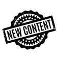 New Content rubber stamp vector image
