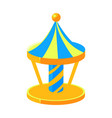 blue and yello merry-go-round fairy tale candy vector image