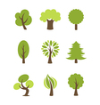 Tree icons set vector image vector image
