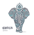 Vintage elephant vector image