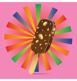Chocolate Ice Cream Background vector image vector image
