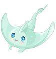 Cute Stingray vector image vector image