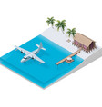 isometric tropical resort vector image