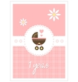 baby card - girl vector image