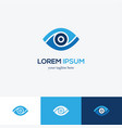 blue eye logo vector image